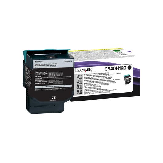 C540H1KG - Noir - Toner XL Return Programme Lexmark