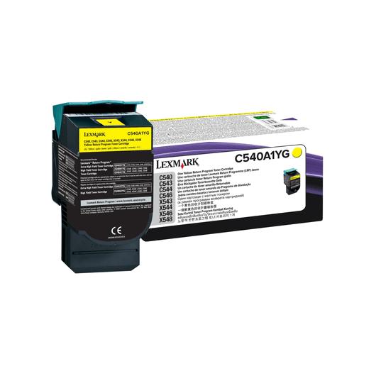 C540A1YG - Jaune - Toner Return Programme LEXMARK