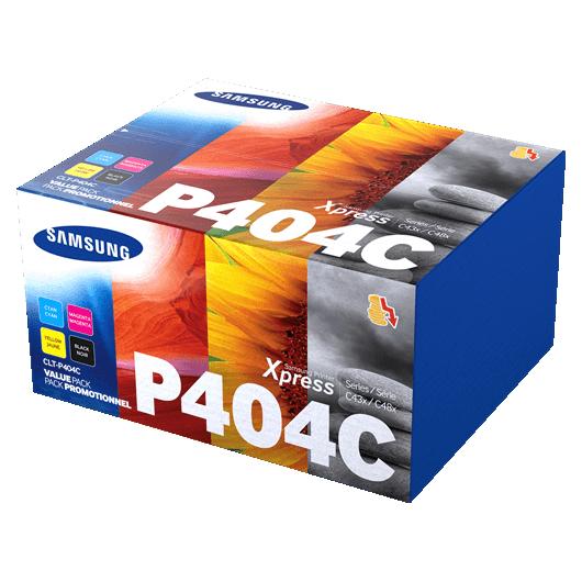 CLT-P404C - Noir / Couleurs - Pack de Toners Samsung (Lot de 4)