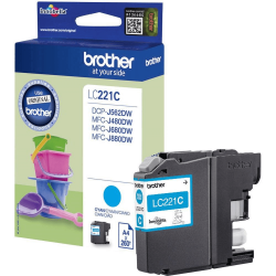 Brother LC-221C - Cyan - Cartouche d'encre Brother