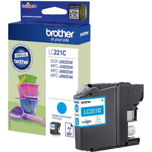 LC-221C - Cartouche Brother