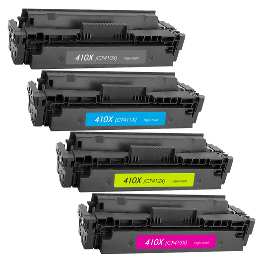 HP CF41xX - 410X - Pack 4 Toners Compatibles HP