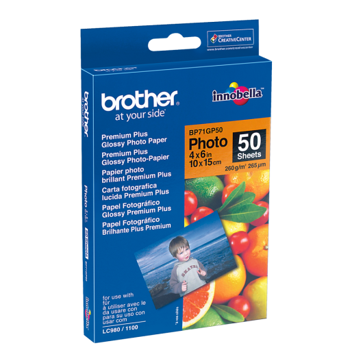 Brother BP71GP50 - Papier Photo Brillant - 50 feuille(s)