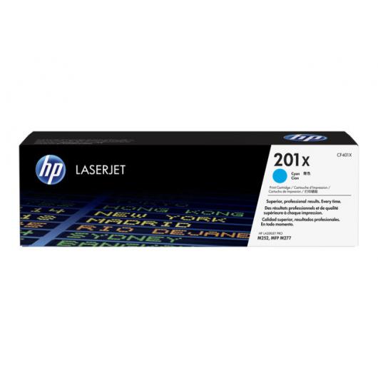 HP 201X - HP CF401X - Cyan - Cartouche XL HP