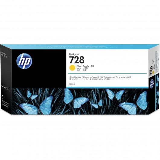 HP F9K15A - HP 728 - Jaune - Cartouche HP 300 ml