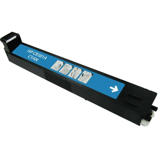 HP 824A - HP CB381A - Cyan - Cartouche Compatible HP