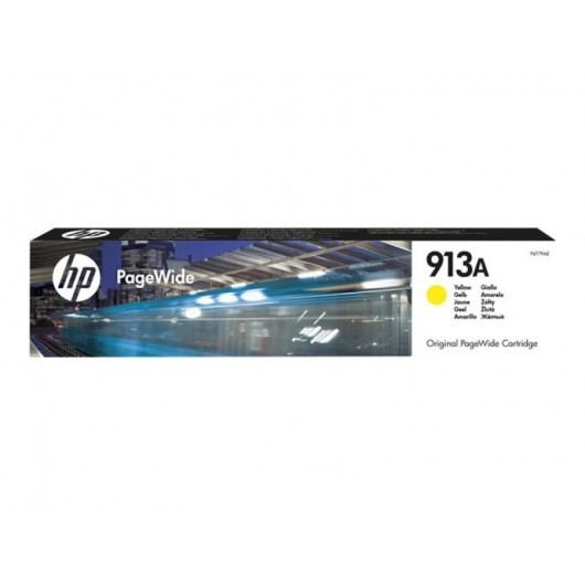 HP 913A- HP F6T79AE - Jaune - Cartouche d'encre PageWide HP
