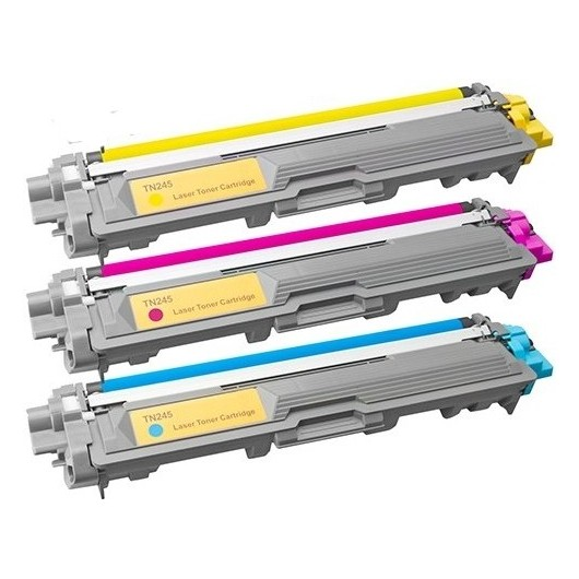 Brother TN-245 - Cyan, Magenta, Jaune - Pack de 3 Toners Compatibles Brother