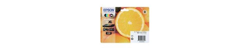 Cartouches pour imprimante Epson 33 / 33XL - Orange Pas Chères – Dès demain chez vous.