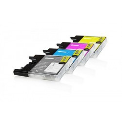 LC1280XL Pack Cartouches jet d'encre Compatible Brother - 1 Noire, 1 Cyan, 1 Magenta, 1 Jaune